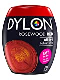 Dylon Machine Dye Pod, Rosewood Red, easy-to-use fabric colour for laundry, 350g
