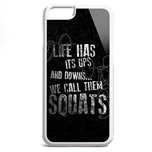 Smartcover Case Life has its ups z.B. für Iphone 5 / 5S, Iphone 6 / 6S, Samsung S6 und S6 EDGE mit griffigem Gummirand und coolem Print, Smartphone Hülle:Samsung S6 EDGE weiss Iphone 6 / 6S weiss