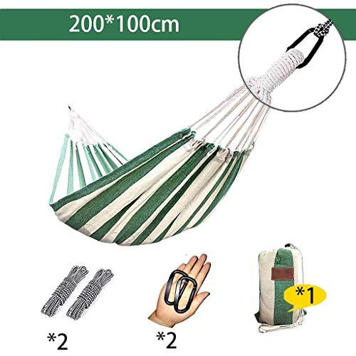 Hängematten Wddwarmhome Outdoor Camping Leinwand Wohnheim Zimmer Casual Swing Anti Rollover Leicht zu Tragen (Größe: Single Erweiterung (200 * 100 cm)) - Swing-erweiterung