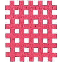 40 pezzi 'Cross-Tape' kinesiologico sport tape misura C (20 fogli con 2 pezzi), Colore:rosa fucsia