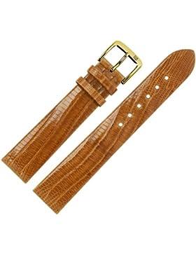 Uhrenarmband 20 mm Leder braun - Echt Teju - Ersatzarmband für Uhren - ohne Naht - braun / gold - Uhrenarmbänder...