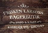 Schablone Bäckerei Kopenhagen - skandinavische hygge Deko - vintage Ladenschild - shabby chic Stencil - Dekoration für Möbel, Wände, Stoff, Kuchen - DIN A2, DIN A3 oder DIN A4