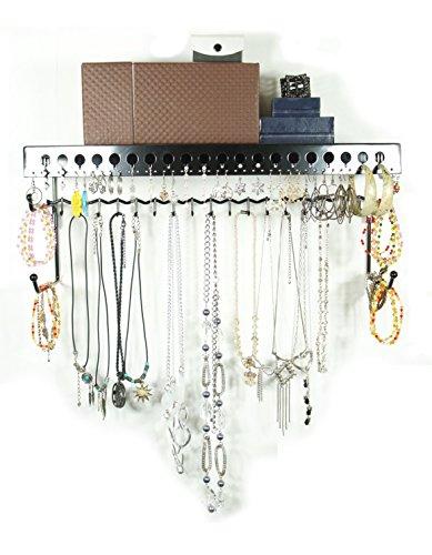 Mango-Steam-soporte-de-pared-de-plata-26-cm-joyera-y-estante-organizador-de-accesorios-como-pendientes-pulseras-collares-y-accesorios-para-el-pelo