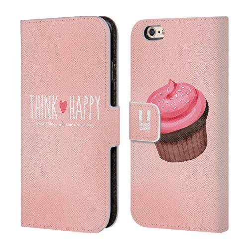 Head Case Designs Pile Bonheur De Cupcakes Étui Coque De Livre En Cuir Pour Apple iPhone 5c Rose