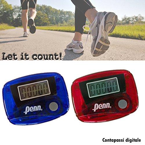 Podómetro cuentapasos con pantalla LCD cuenta hasta 99.999 pasos con gancho para la...