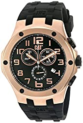 CAT WATCHES Men's 'Navigo Chrono' Quartz Stainless Steel and Silicone Automatic, Color:Black (Model: A719321919)