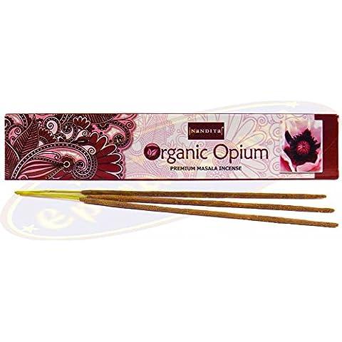 3x Nandita orgánico Opium 15g), Premium–Varitas de incienso (3cajas)