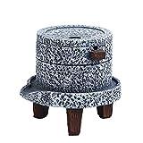 HJL Kreativer modellierender Aschenbecher mit Abdeckung Windproof Outdoor Indoor Retro Dekorativer Aschenbecher für Männer und Frauen