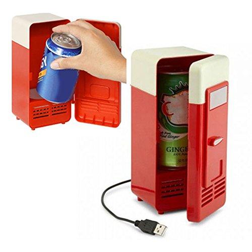 Rosepoem Mini Kühlschrank Gefrierschrank tragbar rot Plastiksoda Fruchtsaft