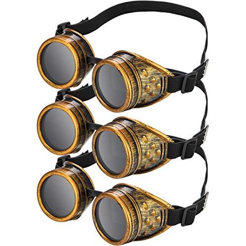 Drei Freunde Kostüm Für - Frienda Steampunk Cyber Brille Vintage Viktorianischen Brille Cyber Punk Gotisch für Cosplay und Kostüme (Blech, 3 Stücke)