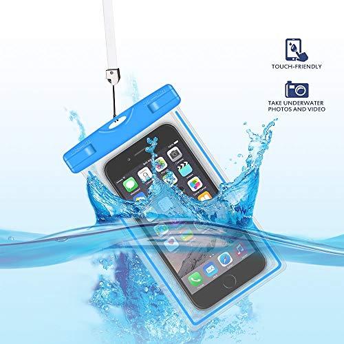 GH-Ghawk Universelle wasserdichte Handy Tasche, Große wasserdichte Handy Hülle Unterwasser Dry Bag für Sharp Aquos S3 Mini, Weiche TPU-Tasche für alle Mobiltelefone bis 6,5