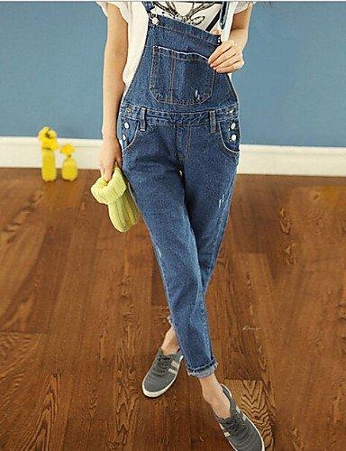 GSP-Pantalon Aux femmes Décontracté Toile de jean / Polyester blue-s