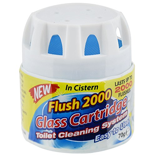flush-2000-glass-cartridge-toilet-cleaning-system-freshen-cistern-drop-in-block-lasts-for-up-to-2000
