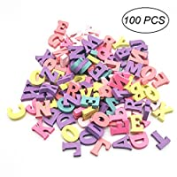 Ultnice wooden letters, 100 pieces, multi-coloured, alphabet decoration for home and party