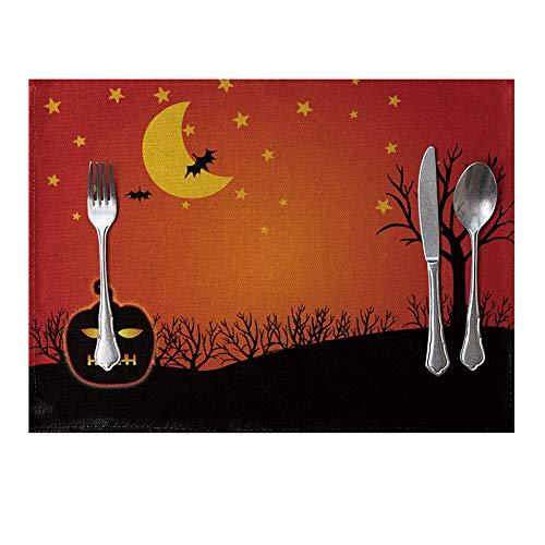 Bangle009 Tischset für Halloween, Kürbisschläger, hitzebeständig, für Küche ()