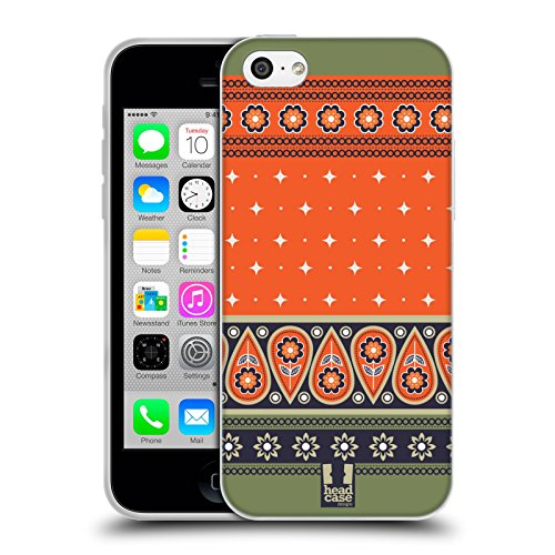 Head Case Designs Daisy Fiori Romantici Cover Morbida In Gel Per Apple iPhone 7 Plus / 8 Plus Naranja