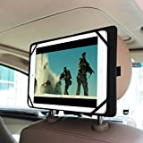 Fintie Supporto Tablet Poggiatesta Auto Universale in Pelle PU per 7-11 Pollici Tablet PC - Nuovo iPad 9.7 2018/2017, iPad Air/Air 2, iPad Pro 10.5, iPad 2/3/4, iPad Mini, Samsung, Microsoft Surface Pollici Tablet, Nero