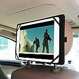 Fintie Universal Funda Case Con Reposacabezas de Coches en Mount / Soporte para 7 - 11 Inch Tablet Incluir Apple Nuevo iPad 2017, iPad Pro 9.7, iPad Air 2, iPad Air, iPad 1 2 3 4 5 6, iPad Mini 1/2/3, Samsung Galaxy Tab A 9.7/8.0, Galaxy Tab E 9.6/8.0, bq Aquaris M10 - Tablet de 10.1, BQ Edison 3 Mini - Tablet de 8, iRULU eXpro X1s 10.1, YUNTAB K107 10.1, Alldaymall A88X 7, ibowin P120 10.1, SPC 9755116B - Tablet de 10.1, WeVool NEMESIS 10.1, Excelvan BT-MT10, Chuwi Hi8/Vi7, Negro