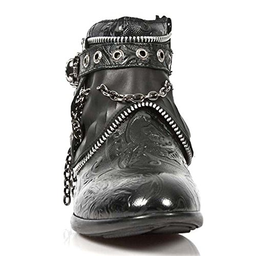 New Rock Vintage Schwarz Schuhe M.HY101-S1 Black