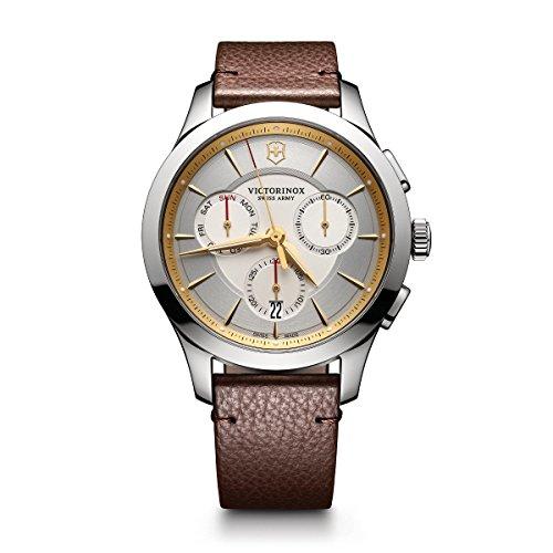 Victorinox Herren Chronograph Quarz Uhr mit Leder Armband 241750