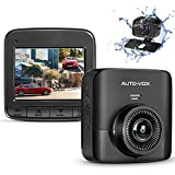 AUTO VOX Upgrade D5PRO 2.7K Dual Dash Cam for Cars, 1520P Front +
