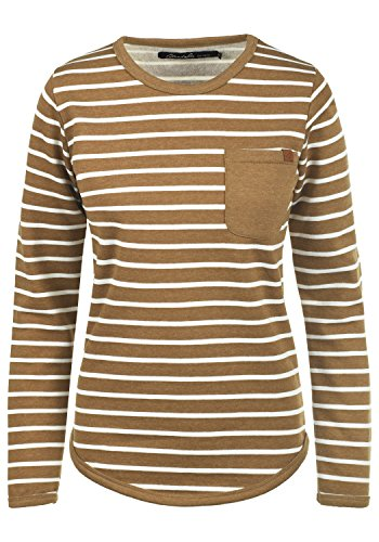 BlendShe Christin Damen Sweatshirt Pullover Sweater Mit Rundhalsausschnitt Und Fleece-Innenseite, Größe:XL, Farbe:Dark Mustard (75116) Dickies Fleece Pullover