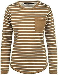 BlendShe Christin Damen Sweatshirt Pullover Sweater Mit Rundhalsausschnitt  Und Fleece-Innenseite c25f7679d5