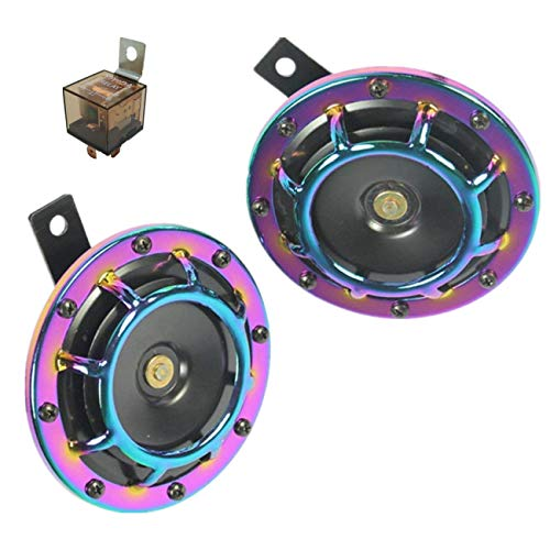 YIYIDA Auto-Hupe, 12 V, 135 dB, eletrisches Autohupe, sehr lauter und tiefer Klang, Metall, Doppelhorn-Kit mit Halterung für Autos, Wohnwagen, Wohnmobile, Motorräder, Geländewagen, Boote, LKW, SUVs Dual Tone Siren