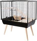 Cage Neo Muki Grand Rongeur L 77.5 X P 47.5 X H 87.5 Cm Noire