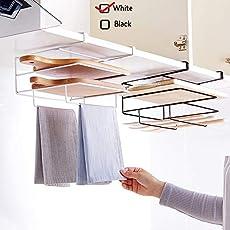 HOME CUBE® 1 Pcs Under Cabinet Kitchen Shelf, Drawer Chopping Board Holder, Towel Rack, pan Holder -White Color