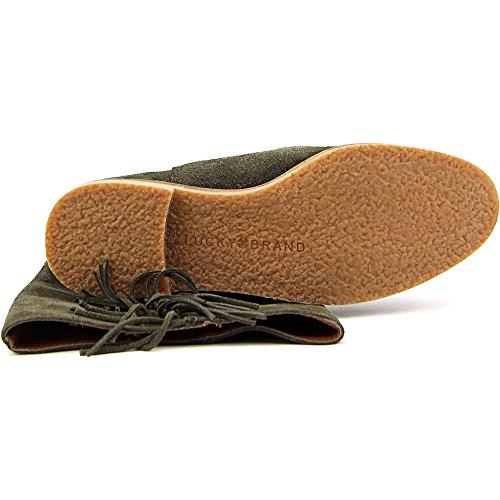 Lucky Brand Grayer Damen Rund Wildleder Mode Mitte Calf Stiefel Dark Moss