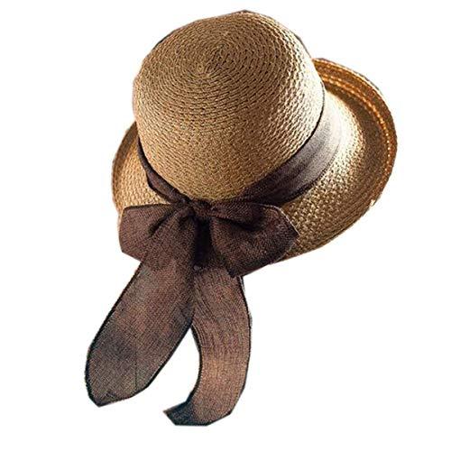 Wghz Female Summer Sunscreen Beach Hat (Farbe: Bronze, Größe: One Size)