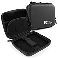 Solid EVA Zip Black Protective Pouch With Belt Clip ForTomTomGO LIVE 1000, Go Live 820 & Start2 By DURAGADGET
