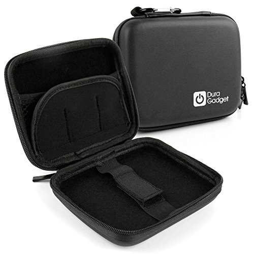 Handliches Hartschalen-Etui (Schwarz) der Marke DuraGadget für Ihren Polaroid POLMP01W – Fotodrucker und Polaroid ZIP Handydrucker