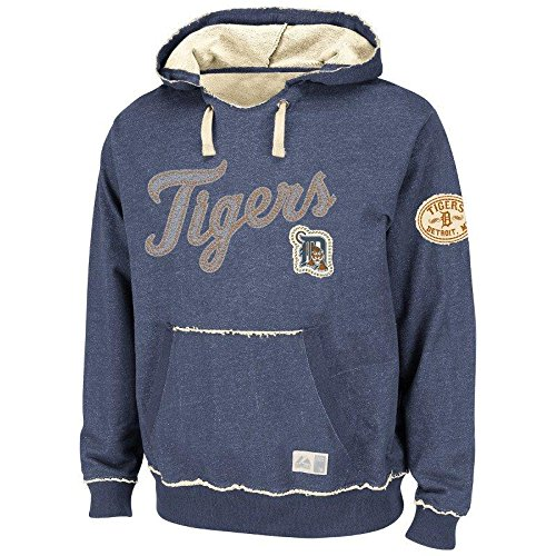 MLB Baseball Hoody/Hoodie/Kaputzenpullover Sweater DETROIT TIGERS Home Stretch in LARGE (L) (Pullover Majestic Stretch)