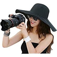 Lucky Will Mujer Wide borde sombrero de paja sol Sombreros sombrero verano sombrero sombrero de playa sol huete Tapa Sombrero De Verano Sol huete negro
