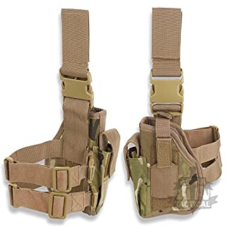 Alpha Tactical MTP Mulitcam Drop Leg Holster Left Leg