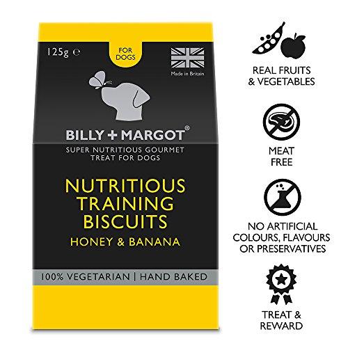 Billy & Margot - Biskuits für Hundetraining Hundefutter Kekse Honig & Banane 125g -