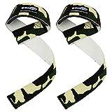 New Gel Gepolstert Gewichtheben Training Gym Gurte Hand Bar Handgelenk gewickelt Support G Professioneller Gewicht Hebeband erhältlich in 13Farben Kostenlose Lieferung UK, grün camo