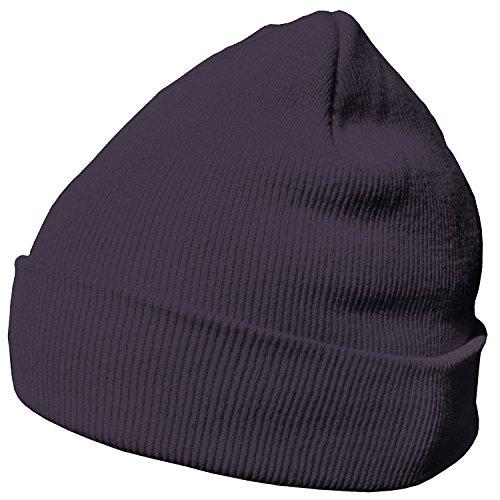 Licht Grau Wolle (DonDon Wintermütze Mütze warm klassisches Design modern und weich grau lila)