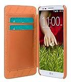 Melkco 4895158654887 Premium-Leder Tasche für LG Optimus G2/D801/D803/F320K orange