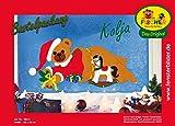 Fischer Fensterbilder KOLJA / Bastelpackung / ca. 66x32 cm / zum Selberbasteln / Basteln mit Papier und Pappe für Weihnachten