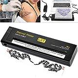 Máquina de transferencia de tatuaje térmico impresora de tatuaje portable profesional tatuaje impresora térmica transfer copier stencil paper tattoo print(EU)