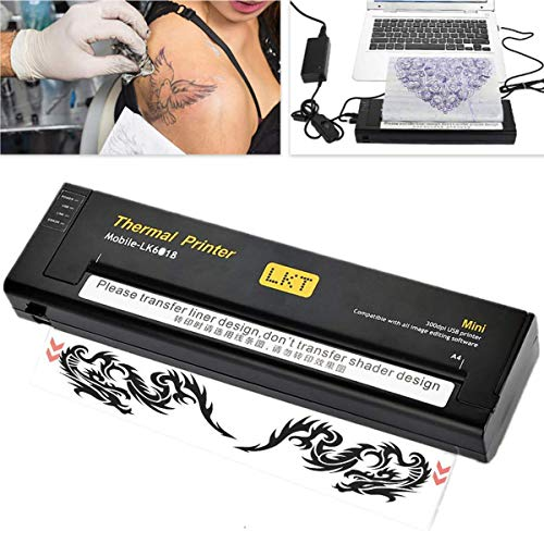 Thermische Tattoo Transfer Maschine Tragbare professionelle Tattoo Thermodrucker Transfer Kopierer Schablone Papier Tattoo Print(EU)