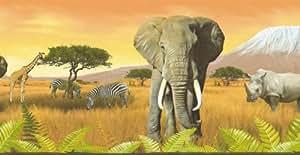 A.S. Création 6901-11 Frise murale, Afrique, Orange (Import Allemagne)