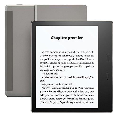Kindle Oasis, Résistant à l'eau, 32 Go, 3G gratuite + Wi-Fi, Génération précédente (9ème)