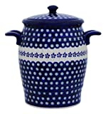 Original Bunzlauer Keramik Rumtopf 4.2 Liter / Mehrzwecktopf / Keramiktopf im Dekor 166a