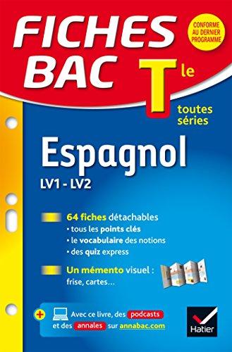 Fiches bac Espagnol Tle (LV1 & LV2): fiches de révision - Terminale toutes séries par Jean-Yves Kerzulec