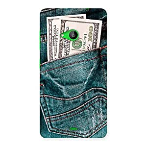 Delighted Dollars Jeans Back Case Cover for Lumia 535
