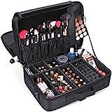 Large Capacity Makeup Case 3 Layers Cosmetic Organizer Brush bag Makeup Train Case Makeup Artist Box for Hair Curler Hair Str